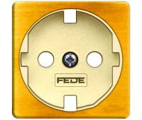 Накладка на розетку FEDE коллекции FEDE, скрытый монтаж, с заземлением, bright patina/бежевый, FD04314PB-A