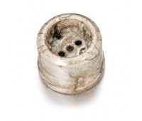 Розетка Fontini GARBY, открытый монтаж, с заземлением, со шторками, мрамор Reggia, 30202152