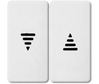 Клавиша для жалюзийного выключателя FEDE, белый, FD17769