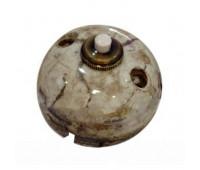 Выключатель 1-клавишный кнопочный Fontini GARBY, мрамор Reggia, 30310152