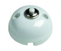 Выключатель 1-клавишный кнопочный Fontini GARBY, белый, 30310172