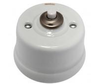 Выключатель 1-клавишный кнопочный Fontini GARBY, белый, 30312172
