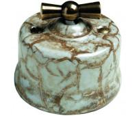 Выключатель поворотный двухполюсный Fontini GARBY, мрамор Reggia, 30314152