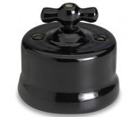 Выключатель для жалюзи поворотный Fontini GARBY, механический, черный, 30342272
