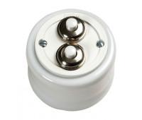 Выключатель кнопочный Fontini GARBY, белый фарфор, 30343172