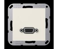 Розетка VGA Jung A 500, скрытый монтаж, золотой, MAA1102