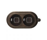 Рамка 2 поста Fontini, темно-коричневый, 30822212