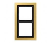 Рамка 2 поста Jung LS DESIGN, латунь, MED2982C