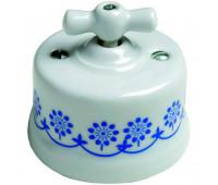 Выключатель поворотный Fontini GARBY, белый/синий, 30306112