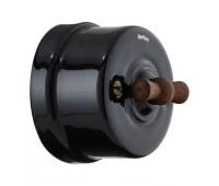 Выключатель поворотный Fontini GARBY, черный, 30306292