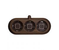 Рамка 3 поста Fontini GARBY, горизонтальная, темно-коричневый, 30833212