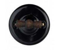 Выключатель поворотный на два направления Fontini GARBY COLONIAL, черный, 31300292