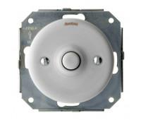 Выключатель 1-клавишный кнопочный Fontini GARBY COLONIAL, белый, 31310172