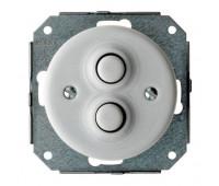 Выключатель 2-клавишный кнопочный Fontini GARBY COLONIAL, белый, 31343172