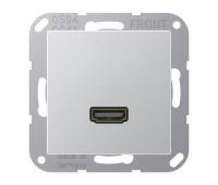 Розетка HDMI Jung A 500, скрытый монтаж, алюминий, MAA1112AL