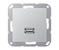 Розетка USB Jung A 500, алюминий, MAA1122AL