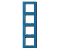 Рамка 4 поста Jung A CREATION, голубой, AC584GLBLGR