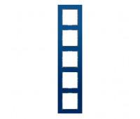 Рамка 5 постов Jung A CREATION, голубой, AC585GLBLGR