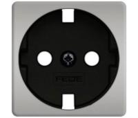 Накладка на розетку FEDE коллекции FEDE, скрытый монтаж, с заземлением, bright chrome/черный, FD04314CB-M