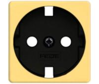 Накладка на розетку FEDE коллекции FEDE, скрытый монтаж, с заземлением, bright gold/черный, FD04314OB-M