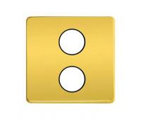 Накладка на розетку телевизионную FEDE, скрытый монтаж, bright gold/черный, FD04316OB-M