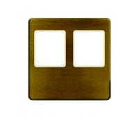 Накладка на мультимедийную розетку FEDE, скрытый монтаж, matt patina/бежевый, FD04318PM-A
