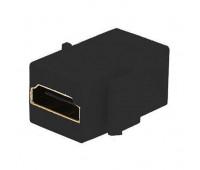 Розетка HDMI FEDE FEDE МЕХАНИЗМЫ И НАКЛАДКИ, скрытый монтаж, черный, FD-210HD-M