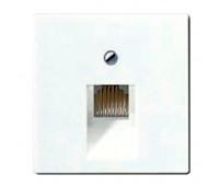 Накладка на розетку информационную Jung А-СЕРИЯ, скрытый монтаж, белый, A569-1PLUAWW