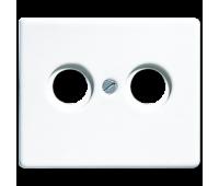 Накладка на розетку телевизионную Jung SL 500, скрытый монтаж, белый, SL561TVWW