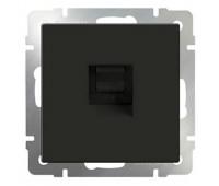 Розетка компьютерная 2xRJ45 Fontini DO, скрытый монтаж, черный, 34707272