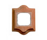 Рамка 1 пост Fontini VENEZIA, дерево натуральное, 36821002