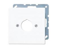 Накладка на розетку информационную Jung LS 990, скрытый монтаж, белый, LS964WW