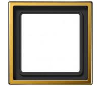 Рамка 1 пост Jung LS METAL, золотой, LS981GGO