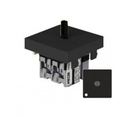 Переключатель поворотный FEDE коллекции FEDE с подсветкой, черный, FD03121-M