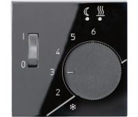 Накладка на термостат Jung А-СЕРИЯ, черный, AFTR231PLSW