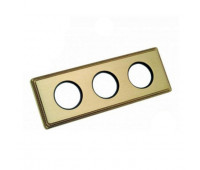 Рамка 3 поста Fontini VENEZIA, золотой, 39823502