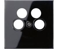 Накладка на розетку телевизионную Jung LS 990, черный, LS990-4SAT2SW