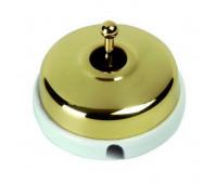 Переключатель тумблерный перекрестный Fontini DIMBLER, золотой, 60304502