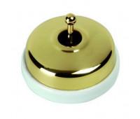 Переключатель тумблерный перекрестный Fontini DIMBLER, золотой, 60304552