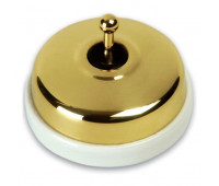 Переключатель тумблерный Fontini DIMBLER, золотой, 60308552