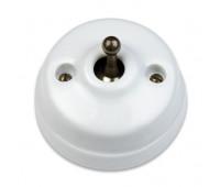 Выключатель тумблерный двухполюсный Fontini DIMBLER, бронза/белый, 60314452