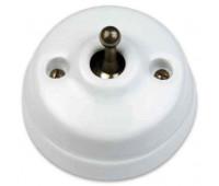 Выключатель тумблерный двухполюсный Fontini DIMBLER, бронза/белый, 60314652