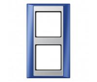 Рамка 2 поста Jung A PLUS, синий, AP582BLAL