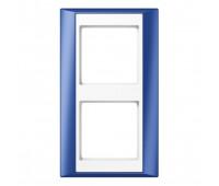 Рамка 2 поста Jung A PLUS, синий, AP582BLWW