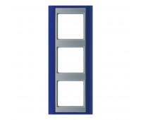 Рамка 3 поста Jung A PLUS, синий, AP583BLAL