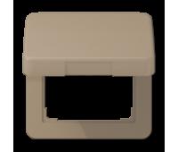 Накладка на розетку Jung CD 500, скрытый монтаж, с заземлением, с крышкой, бронзовый, CD590KLGB