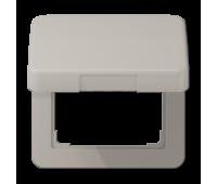 Накладка на розетку Jung CD 500, скрытый монтаж, с заземлением, с крышкой, платина, CD590KLPT