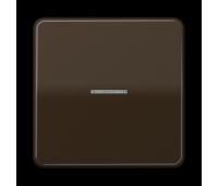 Клавиша с линзой Jung CD 500, коричневый, CD590KO5BR