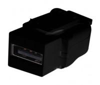 Разъём USB FEDE коллекции FEDE, скрытый монтаж, черный, FD-210USB-M