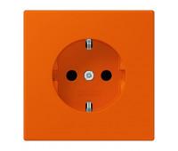 Розетка Jung LS 990 LE CORBUSIER, скрытый монтаж, с заземлением, со шторками, orange vif, LC1520KI4320S